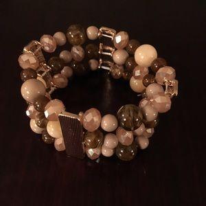 Gold/Tan/Brown bracelet